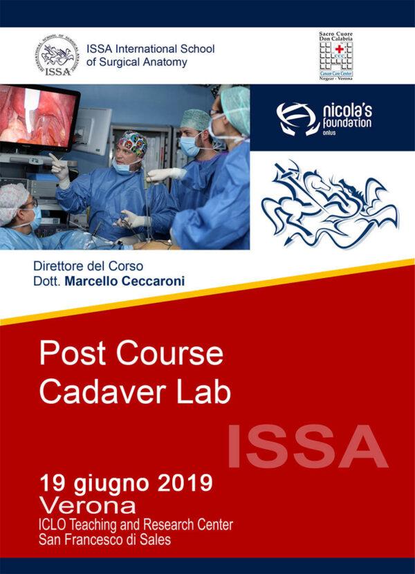Post Course Cadaver Lab 19 giugno 2019